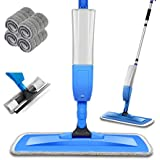 Bellababy Spray Mop and Glass Wiper,Microfiber Mop with 4 Reusable Pads Can Spray Upward,360 Degree Rotatable Mophead Suitabl