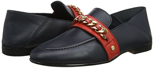 Corporate Bleu Chain Femme Loafer Tommy Navy Hilfiger 406 tommy Detail Mocassins tTww0q