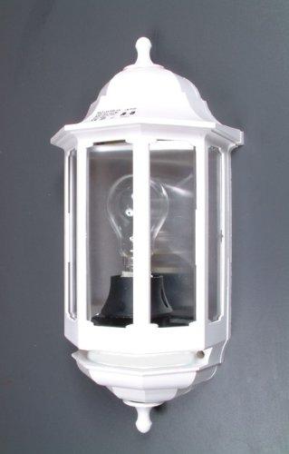 ASD 60W PIR Half Lantern - White