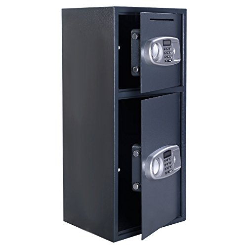 Double Door Digital Safe Depository Drop Box Safes Cash Office Security Lock (Brand New)