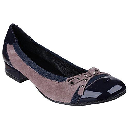 da Wine Riva tacco scarpe con S motivo misura donna fwFwR