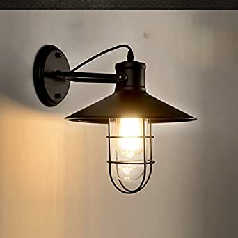 QIMLIGHT Plug in Wall Sconce Modern Wall Lamp Wrought Iron