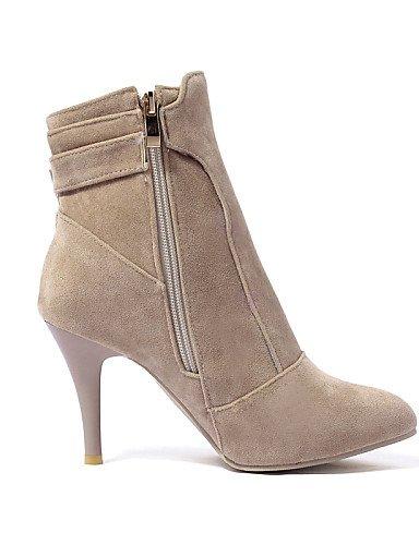 Citior Femme Stiletto Chaussures Chaussons Bout Cheville Bottes Bottes red Pointu pour pour Talon Femme qaFSqxrw