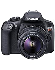 Canon EOS Rebel T6 Digital SLR Camera Kit with EF-S 18-55mm f/3.5-5.6 is II Lens, Built-in WiFi and NFC - Black (Renewed)