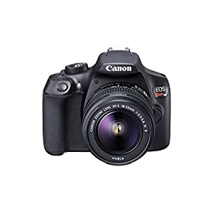 41YtSWt5yxL. SS300  - Canon EOS Rebel T6 Digital SLR Camera Kit with EF-S 18-55mm f/3.5-5.6 is II Lens, Built-in WiFi and NFC - Black (Renewed…