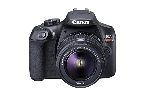 Canon EOS Rebel T6 Digital SLR Camera Kit with EF-S 18-55mm f/3.5-5.6 IS II Lens, Built-in WiFi and NFC - Black (Certified (Black Digital Camera Kit)