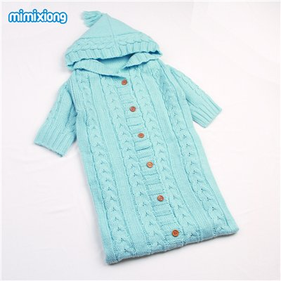 ff5bd0778b4d Warm Knit Baby Sleeping Bags With Sleeve Spring Crocheted Newborn ...