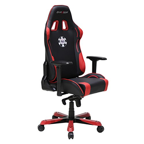 DX Racer DOH/KS181/NR/POKER Racing Bucket Seat Office Chair Comfortable Chair Ergonomic Chair Desk Chair Computer Chair (Black/Red)