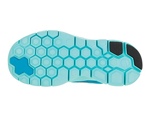 Nike Kids Free 5.0 (grand) Bleu Lagon / Midnight Navy / Copa / Argent Métallique