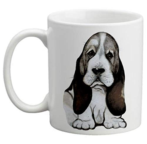 Basset Hound lover mug This Is My Happy Face Funny Mug Great Gift