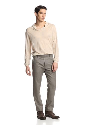 Ann Demeulemeester Men's Flat Front Trousers, Grey, - Demeulemeester Men Ann