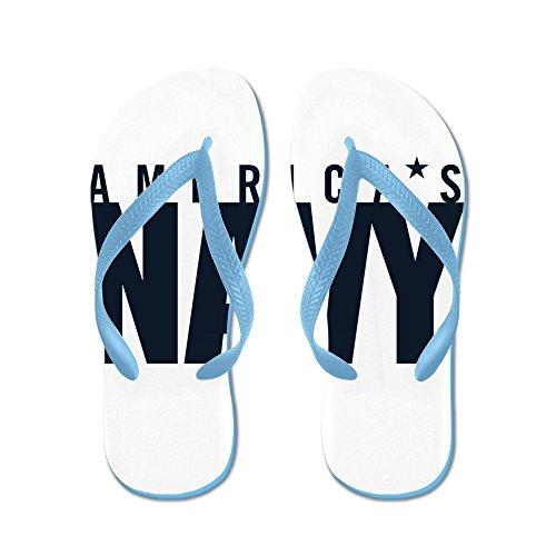 CafePress Americas Navy Emblem - Flip Flops, Funny Thong Sandals, Beach Sandals Caribbean Blue