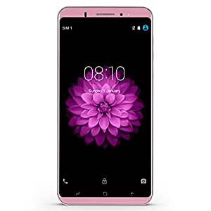 Xgody 1GB+16GB 6 Inch Android 5.1 Unlocked Cell Phones for 3G/2G Network for T-mobile, AT&T Dual Camera Support Smart Gesture/GPS/WIFI Celulares Desbloqueados(Rose Gold)
