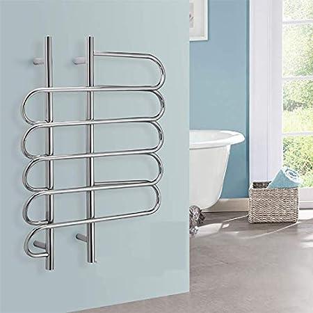 HDLWIS - Toallero de Pared con Escalera, toallero eléctrico para baño, Calentador de Toallas de Anillo, te Permite no Sentir la Toalla húmeda y fría: Amazon.es: Hogar