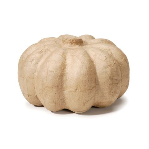 Paper Mache Pumpkin Decoration - Halloween Party Decoration - Size - 6.5 x 3.375 (Paper Mache Pumpkin Costume)