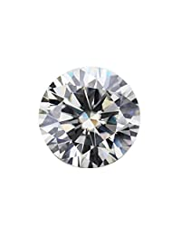 Moissanite G-H Colorless Simulated Diamond Loose Stone, Round Brilliant Cut (Dew) Excellent Cut VVS Clarity