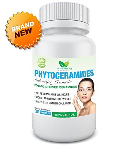 Phytoceramides - Ultimate lifting Anti Aging Solution recommandée | Qualité supérieure et 100 % naturel | Sans gluten