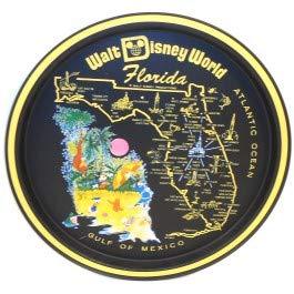 Vintage Retro Walt Disney World Florida Souvenir Tin Serving Tray