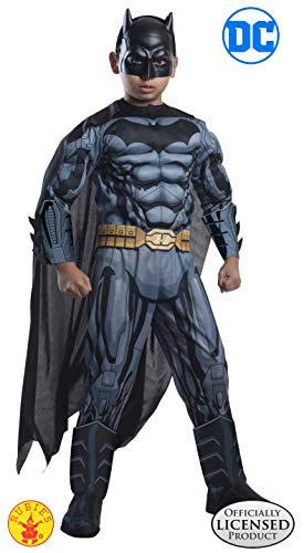 Batman Kids Costume (Rubie's Costume DC Superheroes Batman Child Deluxe Costume,)
