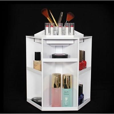 Makeup Organizer Rotating Bathroom Countertop Cosmetic Storage Carousel  Heavy Duty ABS Spinning Tower Box Bedroom Tabletop Big Capacity Vanity  Lipstick ...