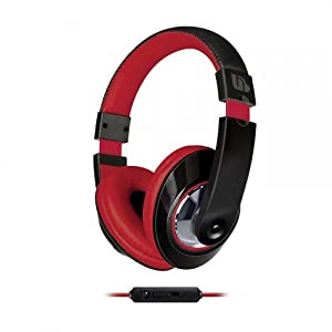 Urban Beatz Tempo Headphones with In-line Mic - Black/Red (M-HM715)