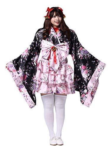 Wasabi Plus Size Anime Cosplay Lolita Halloween Dress Japanese Costume (X-Large, Kimono) -