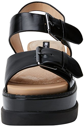 Negro Femme Virginia Noir Plateforme Soft Sandales MTNG Antick qf0tWTt