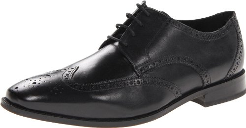 Florsheim Men's Castellano Wing Oxford,Black,10 D US - Leather Sole Dress Shoes
