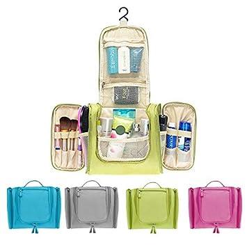 4b6bb37475b9 Women Men's Toiletry Bag, Travel Wash Bags Hanging Cosmetic Organizer for  Bathroom Shower (Green)