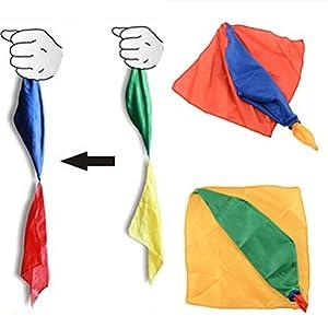 Littlepiano 1 Pcs Change Color Silk Magic Trick Joke Props Tools Magician Supplies Toys
