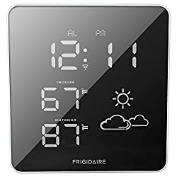 Frigidaire 308-2414FR Wireless Square Mirrored Extra Bright LED Forecast Station
