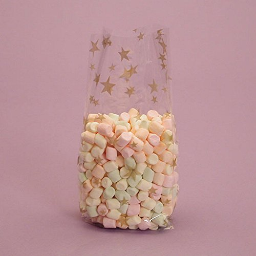 Party Cello Bags (Gold Stars Cello Party Bags - 7.5x3.5x2 - 20)