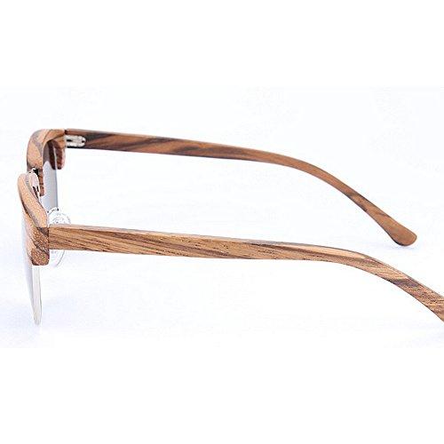 rebordes de Retro Peggy de Protección para y Gafas Hechas de sin UV Semi Gafas Mano Gafas a Sol Mujeres Madera de Sol Gu Unisex Beige Sol Playa Sol de Sol Gafas de de de Hombres Conducción de Gafas 8Iw8B