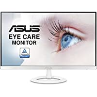 ASUS Full HD 1080P IPS HDMI VGA Eye Care Monitor, 23', White (VZ239H-W)