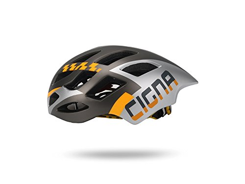 Yunqir Adult Adjustable Bike Helmet Porous Mountain Bicycle Helmet One-Piece Bike Helmet(Silver+Orange) by Yunqir