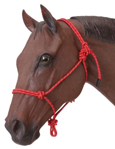 Tough 1 Poly Rope Tied Halter, Red (Rope Halter Poly)