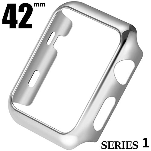 Price comparison product image Apple Series 1 Watch 42mm Screen Portector Case, Metal Plated Hard Case Cover with Full Coverage for i Watch, 42mm