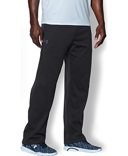Under Armour Men's Armour Fleece In The Zone Pants, Black/Steel, XXX-Large (Yoga Pants Under Armour)