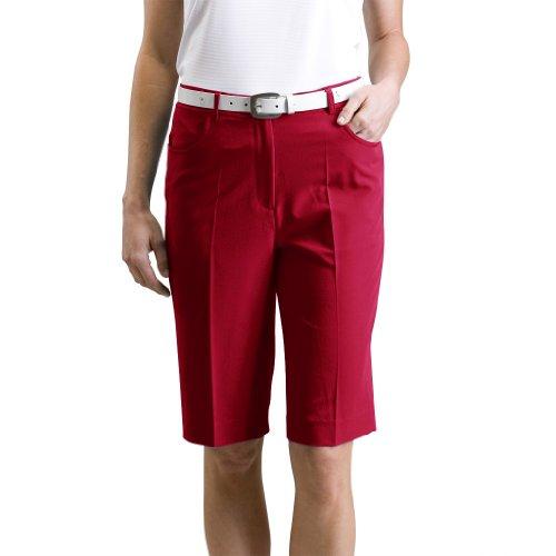 Monterey Club Ladies Stretchable Bermuda Shorts #2835 (Cardinal, Size:6)