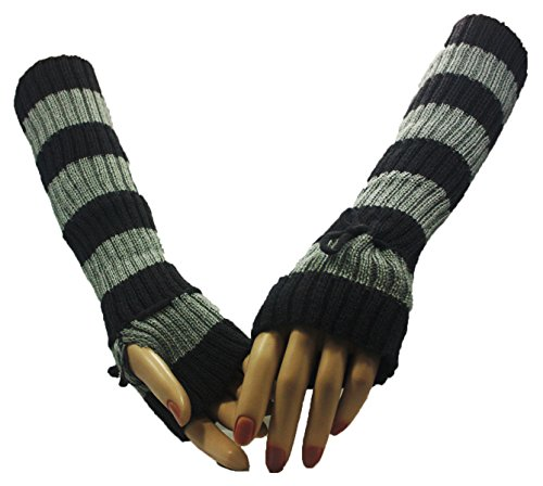 Grey Sleepover Arm Warmer Gloves