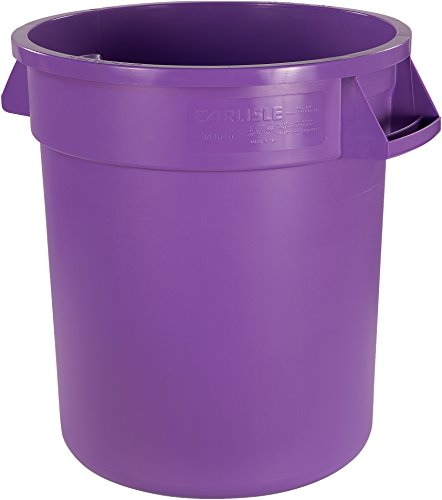 Carlisle 34101089 Bronco Round Waste Container Only, 10 Gallon, Purple
