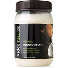 IdealLRaw Organic Coconut Oil 15.5 oz. for baking, skin, hair, and increased health