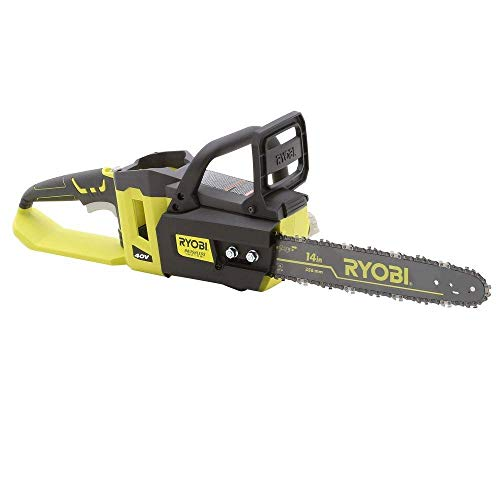 Ryobi 14 in. 40-Volt Brushless Lithium-Ion Cordless Chainsaw – Bare Tool – (Bulk Packaged) (Renewed)