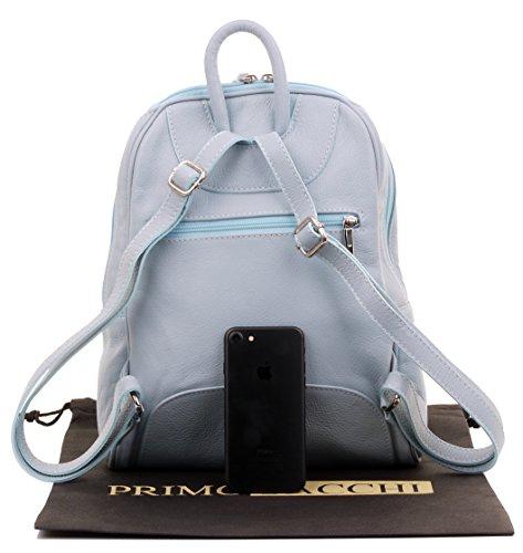 dos main sacs de marque ® à rangement de Primo moyen en Sacchi sac texturé Sac à protection sac italiennes Mesdames Rucksac Grab de Bleu cuir bandoulière à incudes gnAzqZ6n