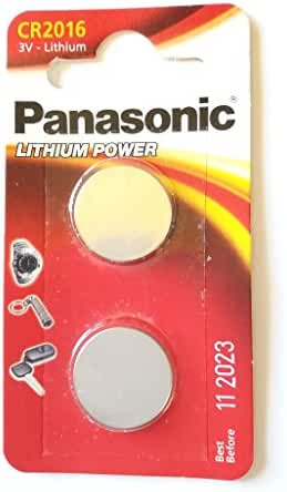 One (1) Twin Pack (2 Batteries) Panasonic Cr2016 Lithium Coin Cell Battery 3V...