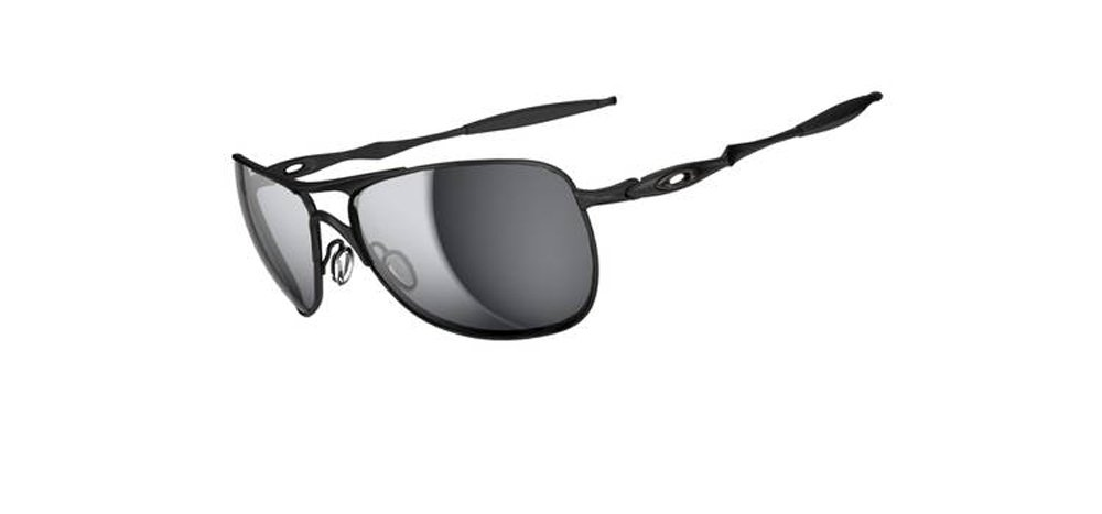 Oakley Mens Crosshair OO4060-03 Iridium Non-Polarized Oval Sunglasses,Matte Black Frame/Black Iridium Lens,one size
