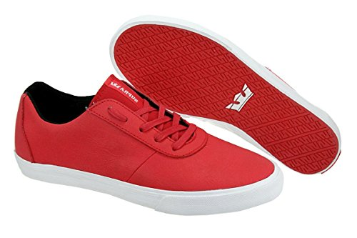 Mens Supra Cuttler Low Red / White 12 Skating Athletic S09001 9cjp1Xt