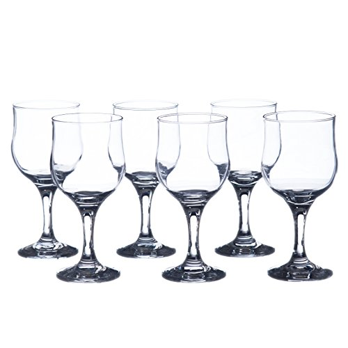 TULPE Wine Glasses - Water/Beverage Glass Set, 12 Oz (310 ml), Durable Tempered Glass, Heavy Base, Restaurant&Hotel Quality (12) -