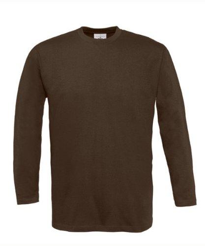 Langarm T-Shirt 'Exact 190' M,Brown