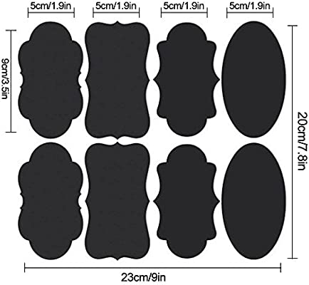 graphic about Printable Chalkboard Labels identify Aolvo Blank Chalkboard Labels Preset 40Desktops Erasable Printable